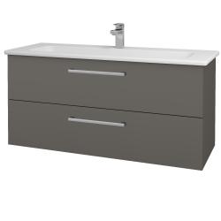 Dreja - Kúpeľňová skriňa GIO SZZ2 120 - N06 Lava / Úchytka T03 / N06 Lava (203047C)