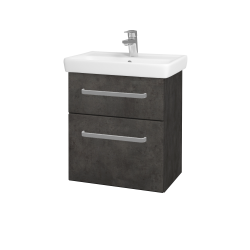 Dreja - Kúpeľňová skriňa GO SZZ2 55 - D16  Beton tmavý / Úchytka T01 / D16 Beton tmavý (204631A)