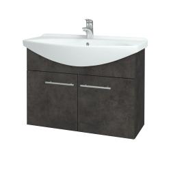 Dreja - Kúpeľňová skriňa TAKE IT SZD2 85 - D16  Beton tmavý / Úchytka T02 / D16 Beton tmavý (206185B)