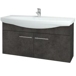 Dreja - Kúpeľňová skriňa TAKE IT SZD2 120 - D16  Beton tmavý / Úchytka T02 / D16 Beton tmavý (206505B)