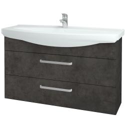 Dreja - Kúpeľňová skriňa TAKE IT SZZ2 120 - D16  Beton tmavý / Úchytka T01 / D16 Beton tmavý (208103A)