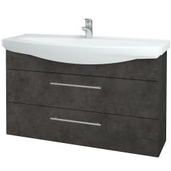 Dreja - Kúpeľňová skriňa TAKE IT SZZ2 120 - D16  Beton tmavý / Úchytka T02 / D16 Beton tmavý (208103B)