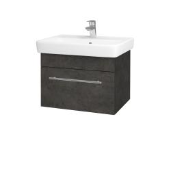 Dreja - Kúpeľňová skriňa Q UNO SZZ 60 - D16  Beton tmavý / Úchytka T02 / D16 Beton tmavý (208462B)