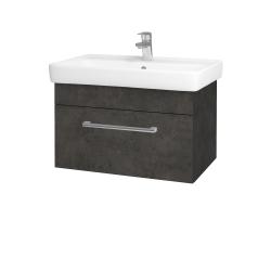 Dreja - Kúpeľňová skriňa Q UNO SZZ 70 - D16  Beton tmavý / Úchytka T03 / D16 Beton tmavý (208660C)