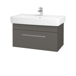 Dreja - Kúpeľňová skriňa Q UNO SZZ 80 - N06 Lava / Úchytka T02 / N06 Lava (209018B)