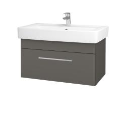 Dreja - Kúpeľňová skriňa Q UNO SZZ 80 - N06 Lava / Úchytka T04 / N06 Lava (209018E)