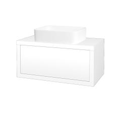 Dreja - Kúpeľňová skriňa STORM SZZ 80 (umývadlo Joy) - M01 Bílá mat / M01 Bílá mat (213190)