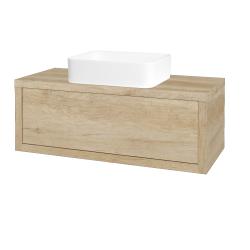 Dreja - Kúpeľňová skriňa STORM SZZ 100 (umývadlo Joy) - D15 Nebraska / D15 Nebraska (213343)