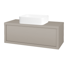 Dreja - Kúpeľňová skriňa STORM SZZ 100 (umývadlo Joy) - N07 Stone / N07 Stone (213602)
