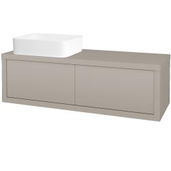 Dreja - Kúpeľňová skriňa STORM SZZ2 120 (umývadlo Joy) - N07 Stone / N07 Stone / Pravé (214388P)