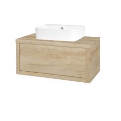 Dreja - Kúpeľňová skriňa STORM SZZ 80 (umývadlo JOY 3) - D15 Nebraska / D15 Nebraska (217631)