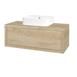 Dreja - Kúpeľňová skriňa STORM SZZ 100 (umývadlo JOY 3) - D15 Nebraska / D15 Nebraska (218027)