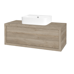 Dreja - Kúpeľňová skriňa STORM SZZ 100 (umývadlo JOY 3) - D17 Colorado / D17 Colorado (218041)