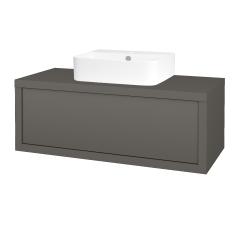 Dreja - Kúpeľňová skriňa STORM SZZ 100 (umývadlo JOY 3) - N06 Lava / N06 Lava (218287)
