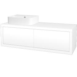 Dreja - Kúpeľňová skriňa STORM SZZ2 120 (umývadlo JOY 3) - L01 Bílá vysoký lesk / L01 Bílá vysoký lesk / Pravé (218980P)