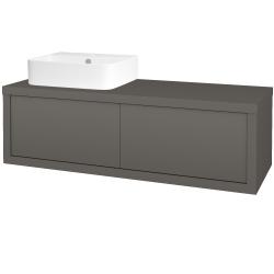 Dreja - Kúpeľňová skriňa STORM SZZ2 120 (umývadlo JOY 3) - N06 Lava / N06 Lava / Pravé (219062P)