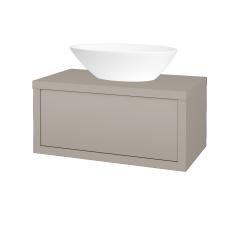 Dreja - Kúpeľňová skriňa STORM SZZ 80 (umývadlo Triumph) - N07 Stone / N07 Stone (220013)
