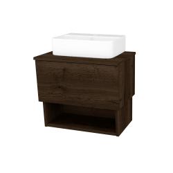 Dreja - Kúpeľňová skriňa INVENCE SZZO 65 (umývadlo Joy 3) - D21 TOBACCO / D21 Tobacco (248543)
