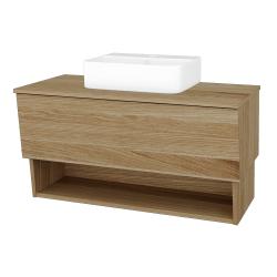Dreja - Kúpeľňová skriňa INVENCE SZZO 100 (umývadlo Joy 3) - A01 Dub (masiv) / A01 Dub (masiv) (250119)