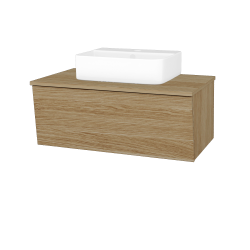 Dreja - Kúpeľňová skriňa INVENCE SZZ 80 (umývadlo Joy 3) - A01 Dub (masiv) / A01 Dub (masiv) (250454)