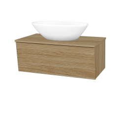 Dreja - Kúpeľňová skriňa INVENCE SZZ 80 (umývadlo Triumph) - A01 Dub (masiv) / A01 Dub (masiv) (250478)