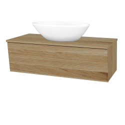 Dreja - Kúpeľňová skriňa INVENCE SZZ 100 (umývadlo Triumph) - A01 Dub (masiv) / A01 Dub (masiv) (250560)