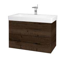 Dreja - Kúpeľňová skriňa VARIANTE SZZ2 85 - D21 TOBACCO / D21 Tobacco (259389)