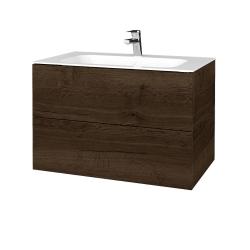 Dreja - Kúpeľňová skriňa VARIANTE SZZ2 80 - D21 TOBACCO / D21 Tobacco (268954)