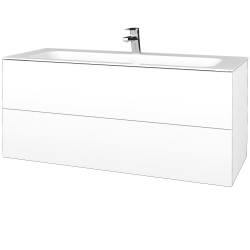 Dreja - Kúpeľňová skrinka VARIANTE SZZ2 120 - M01 Bílá mat / M01 Bílá mat (270513)