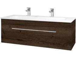 Dreja - Kúpeľňová skriňa ASTON SZZ 120 - D21 TOBACCO / Úchytka T04 / D21 Tobacco (276799EU)