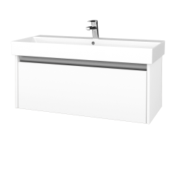 Dreja - Kúpeľňová skriňa BONO SZZ 100 - N09 Bílá mat / N09 Bílá mat (277697)