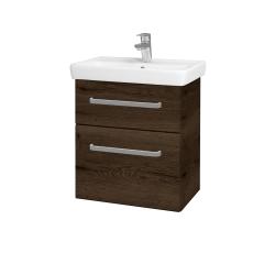 Dreja - Kúpeľňová skriňa GO SZZ2 55 - D21 TOBACCO / Úchytka T01 / D21 Tobacco (278854A)