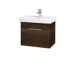 Dreja - Kúpeľňová skriňa SOLO SZZ 55 - D21 TOBACCO / Úchytka T05 / D21 Tobacco (278977F)