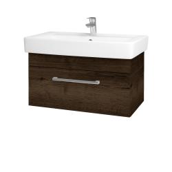 Dreja - Kúpeľňová skriňa Q UNO SZZ 80 - D21 TOBACCO / Úchytka T03 / D21 Tobacco (279783C)