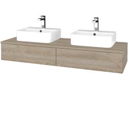 Dreja - Kúpeľňová skrinka MODULE SZZ2 140 - D17 Colorado / D17 Colorado (302689)