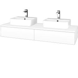 Dreja - Kúpeľňová skrinka MODULE SZZ2 140 - M01 Bílá mat / M01 Bílá mat (302696)