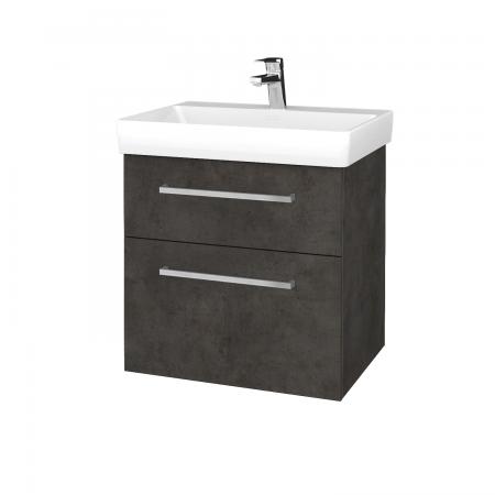 Dreja - Kúpeľňová skrinka PROJECT SZZ2 60 - D16  Beton tmavý / Úchytka T04 / D16 Beton tmavý (322489E)