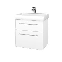 Dreja - Kúpeľňová skrinka PROJECT SZZ2 60 - M01 Bílá mat / Úchytka T02 / M01 Bílá mat (322502B)