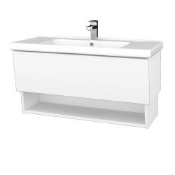 Dreja - Kúpeľňová skriňa INVENCE SZZO 100 (umývadlo Harmonia) - L01 Bílá vysoký lesk / L01 Bílá vysoký lesk (326197)