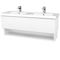 Dreja - Kúpeľňová skriňa INVENCE SZZO 125 (dvojumývadlo Harmonia) - L01 Bílá vysoký lesk / L01 Bílá vysoký lesk (326227)