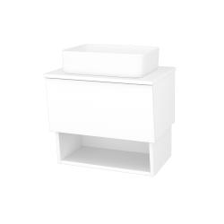 Dreja - Kúpeľňová skriňa INVENCE SZZO 65 (umývadlo Joy) - L01 Bílá vysoký lesk / L01 Bílá vysoký lesk (326258)