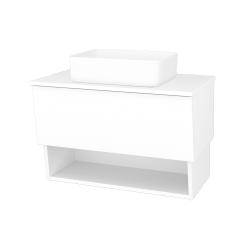 Dreja - Kúpeľňová skriňa INVENCE SZZO 80 (umývadlo Joy) - L01 Bílá vysoký lesk / L01 Bílá vysoký lesk (326289)
