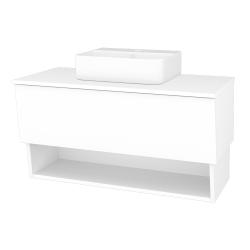 Dreja - Kúpeľňová skriňa INVENCE SZZO 100 (umývadlo Joy 3) - L01 Bílá vysoký lesk / L01 Bílá vysoký lesk (326555)