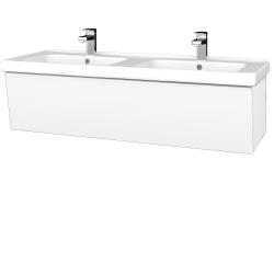 Dreja - Kúpeľňová skriňa INVENCE SZZ 125 (dvojumývadlo Harmonia) - L01 Bílá vysoký lesk / L01 Bílá vysoký lesk (326821)