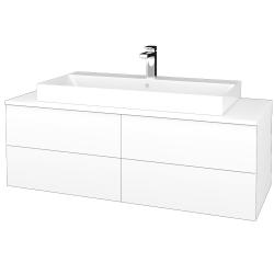 Dreja - Kúpeľňová skrinka MODULE SZZ4 120 - M01 Bílá mat / M01 Bílá mat (336738)