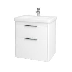 Dreja - Kúpeľňová skriňa ENZO SZZ2 65 - L01 Bílá vysoký lesk / L01 Bílá vysoký lesk (52440)