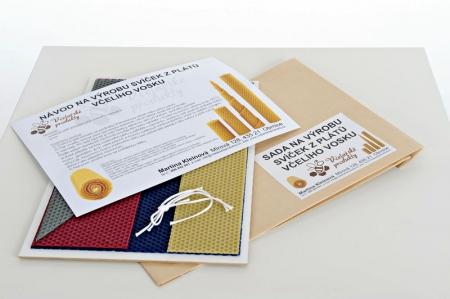 KOUPELNYMOST - Sada na výrobu sviečok z farebných plátov včelieho vosku-027 (VOSK-0027)