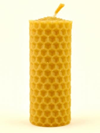 KOUPELNYMOST - Sviečka valec malý z vosku-005 (VOSK-0005)