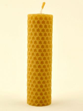 KOUPELNYMOST - Sviečka valec stredný z vosku-004 (VOSK-0004)