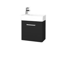 Dreja - Kúpeľňová skriňa DOOR SZD 44 - L03 Antracit vysoký lesk / Úchytka T03 / L03 Antracit vysoký lesk / Levé (151652C)